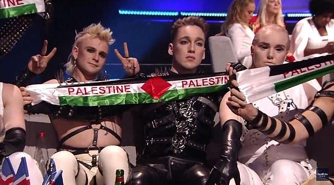 Avrupa Yayın Birliğinden İzlanda'ya Filistin bayrağı cezası