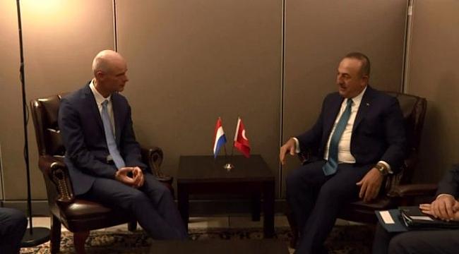 Çavuşoğlu, hollanda dışişleri bakanı stef blok ile görüştü