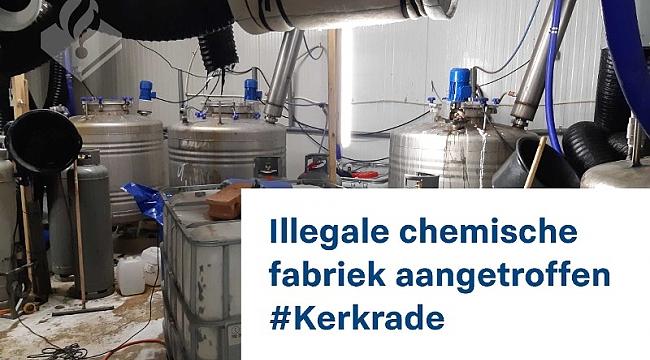 Grote illegale chemische fabriek aangetroffen