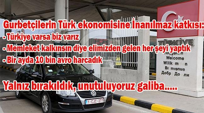 Gurbetçilerin Türk ekonomisine İnanılmaz katkısı: Kişi başı 1200 Avro harcıyorlar