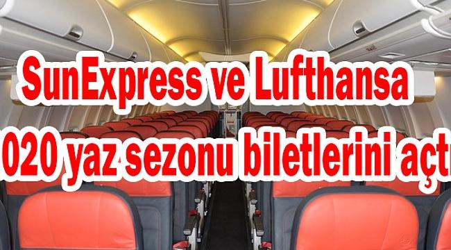 SunExpress ve Lufthansa 2020 yaz sezonu biletlerini açtı