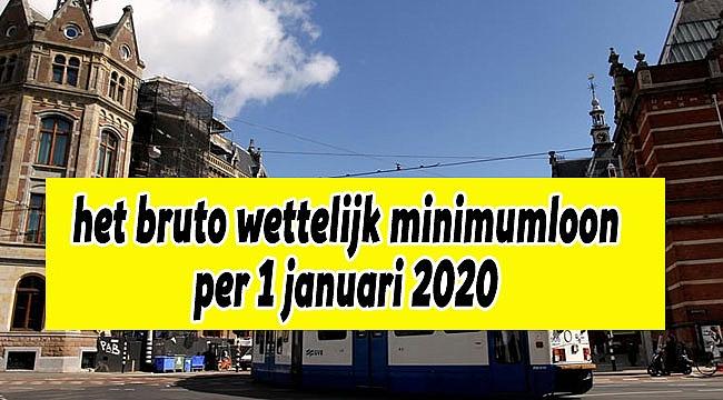 Wettelijk minimumloon per 1 januari 2020