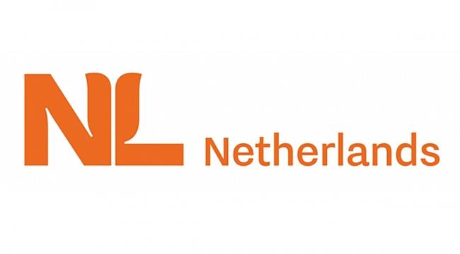 Nieuw internationaal logo: 'NL' met gestyleerde oranje tulp