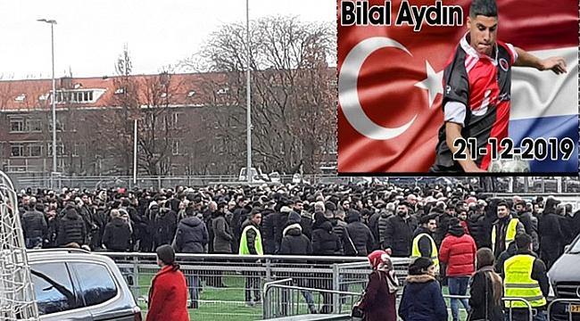 Bıçaklanarak öldürülen 20 yaşındaki Türk genci Bilal Aydın'ı binler uğurladı
