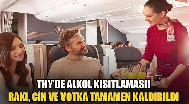 THY'den alkol yasağı: Rakı, Cin ve Votka tamamen kaldırıldı