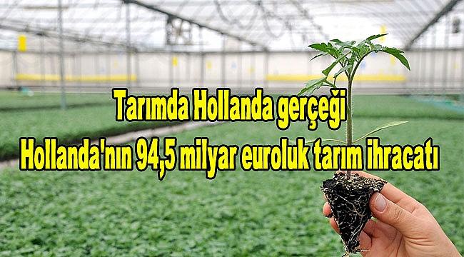 Tarımda Hollanda gerçeği-Hollanda tarım ürünü ihracatında yeni rekor kırdı