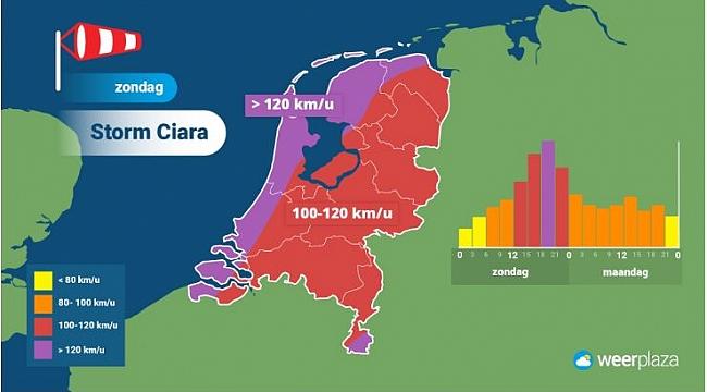 Hollanda'da fırtına uyarısı - Ciara fırtınası için turuncu alarm verildi