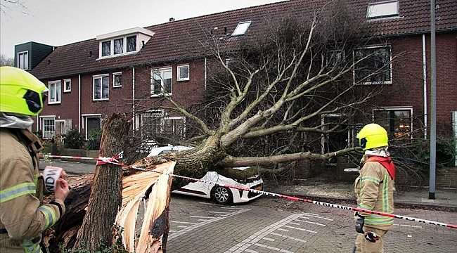 Hollanda'ya Ciara'nın ardından şimdide Dennis fırtınası geliyor