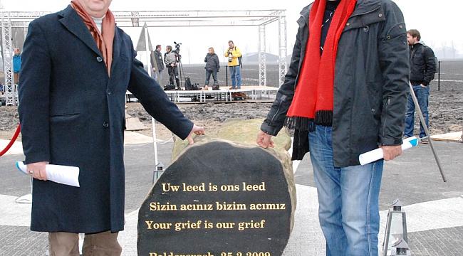msterdam'da düşen THY kazazedeleri ve kurbanları için anma töreni yapıldı