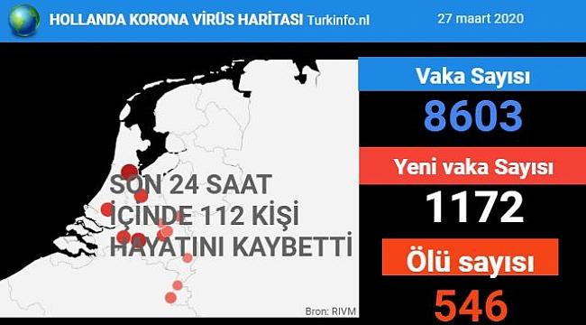 Hollanda'da koronavirüs Kovid-19'dan ölenlerin sayısı 546'a yükseldi