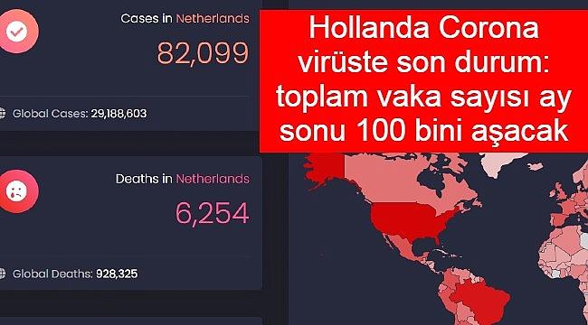 Hollanda Corona virüste son durum: toplam vaka sayısı ay sonu 100 bini aşacak