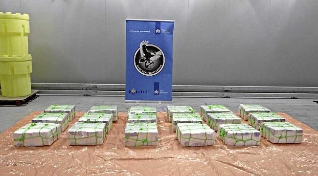 Rotterdam limanında konteynerle gelen spor ayakkabıların arasında 600 kilo kokain çıktı