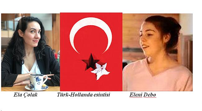 Türk ve Hollanda bayraklarını simgeleyen afiş birincilik kazandı