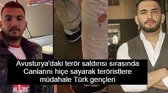 Avusturya'daki terör saldırısında 2 Türk canlarını hiçe sayarak teröristlere müdahale etti