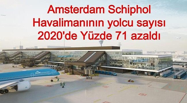 Amsterdam Schiphol Havalimanının yolcu sayısı 2020'de Yüzde 71 azaldı