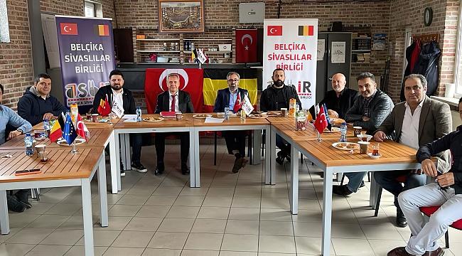 Hollanda Sivaslılar Platformundan Belçika Sivaslılar Birliğine Nezaket Ziyareti