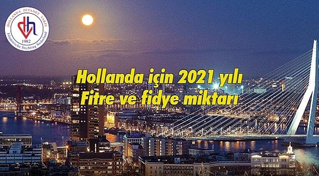 2021 yılının fitre miktarı belli oldu | Hollanda için 2021 yılı Fitre ve fidye miktarı