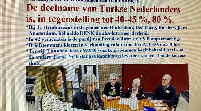 De deelname van Turkse Nederlanders is, in tegenstelling tot 40-45 %, 80 %.