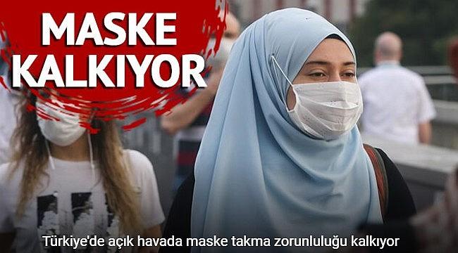 Türkiye'de açık havada maske takma zorunluluğu kalkıyor