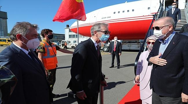 Cumhurbaşkanı Erdoğan Belçika'ya geldi