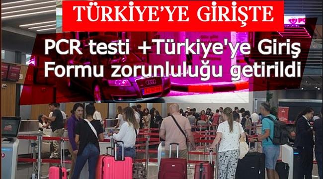 Gurbetçiler için PCR testine ek olarak Türkiye'ye Giriş Formu getirildi