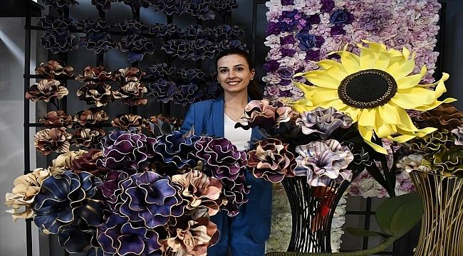 Yapay çiçek üreten kadın girişimci 10 ülkeye ihracat yapıyor