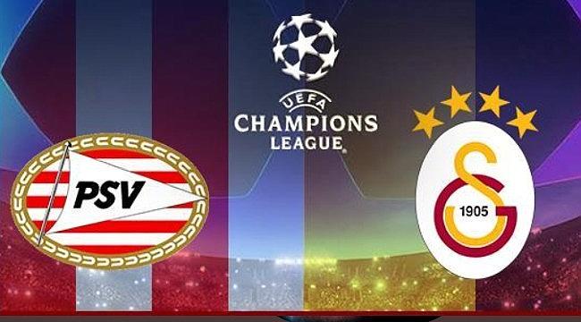 Galatasaray PSV maçı Hollanda saati ile 21:00de başlayacak