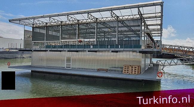 Rotterdam'daki Dünyanın ilk 'yüzen çiftliği' ikinci yılında