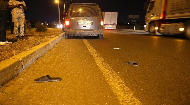 Sivas'ta hafif ticari aracın çarptığı gurbetçi ağır yaralandı