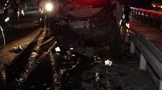 A2'deki büyük kazada Ters yöne giren araç dehşet saçtı 1 ölü 2 yaralı