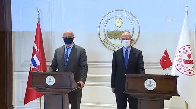 İçişleri Bakanı Soylu, Hollanda Adalet ve Güvenlik Bakanı Grapperhaus ile görüştü