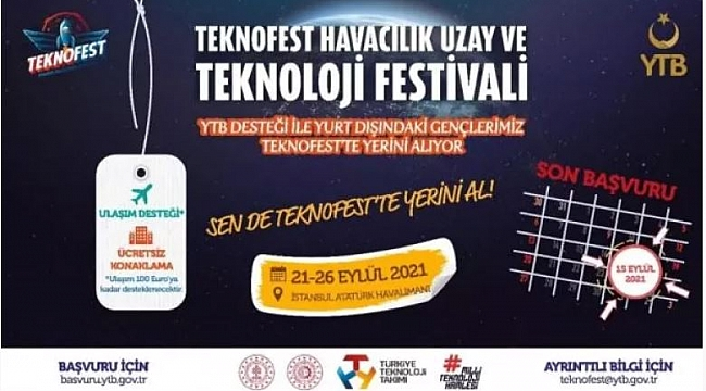 Yurt Dışında Yaşayan Gençlerimiz YTB'nin Desteğiyle Teknofest'te Yerini Alıyor