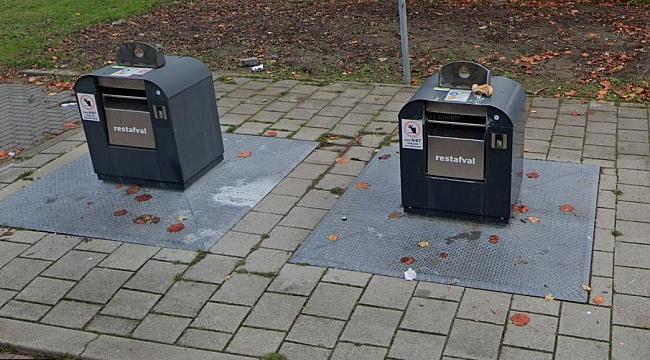 Çöp konteynerinde bebek var ihbarı ile konteyner açıldı bluetooth hoparlör çıktı