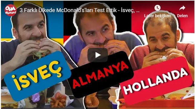 3 Ülkede Mcdonald's'ları Test Ettik - İsveç, Almanya, Hollanda