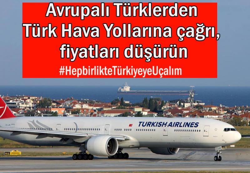 Avrupalı Türklerden bilet fiyatlarına isyan ve fiyatları düşürün çağrısı