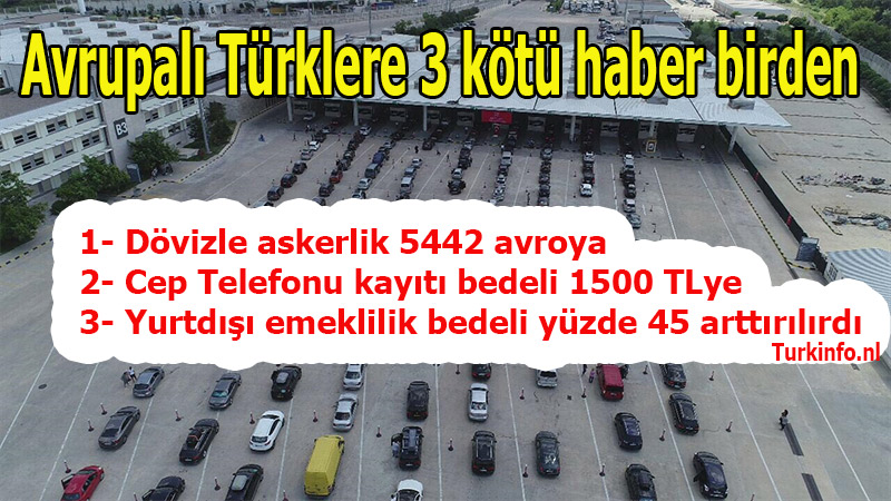 Avrupalı Türklere 3 kötü haber birden