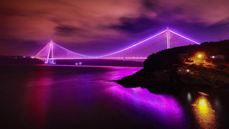 Bruggen van Istanbul zijn paars voor aandacht voor epilepsie