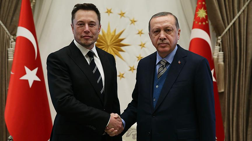 Cumhurbaşkanı Erdoğan, Elon Musk'ı kabul etti