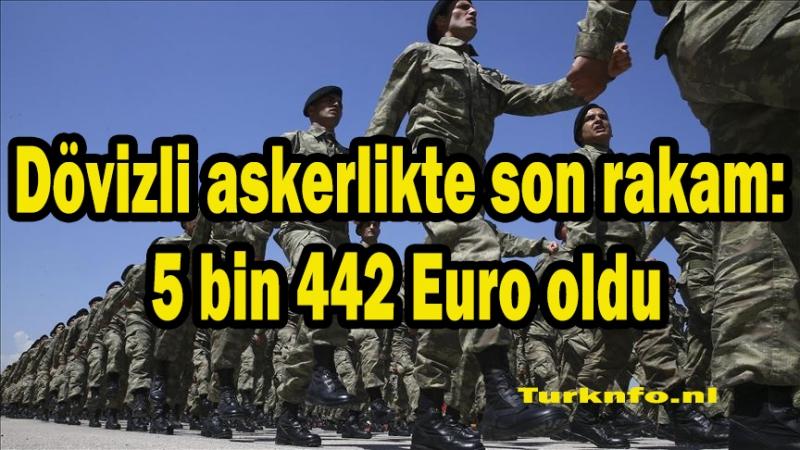 Dövizli askerlikte son rakam: 5 bin 442 Euro oldu