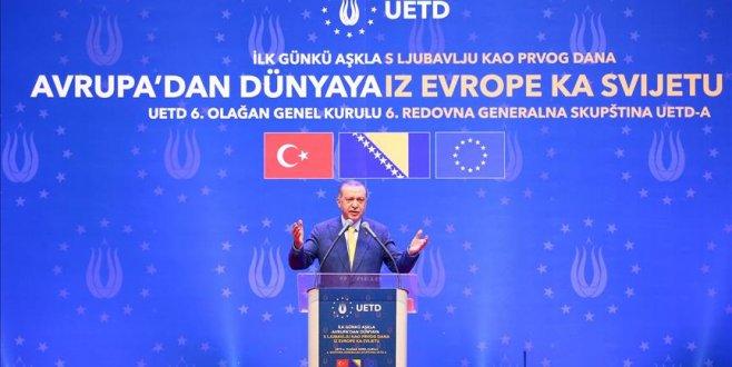 Erdoğan, 6. UETD Genel Kurul Toplantısına katıldı
