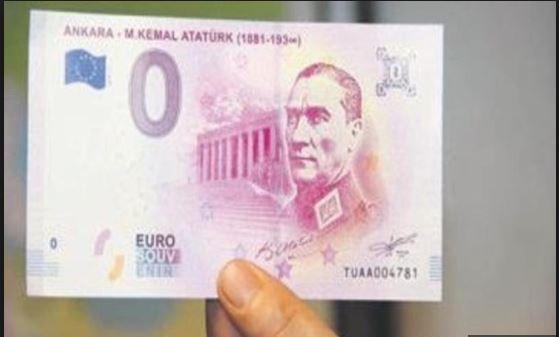 Europese Centrale Bank drukt Euro's met Atatürk
