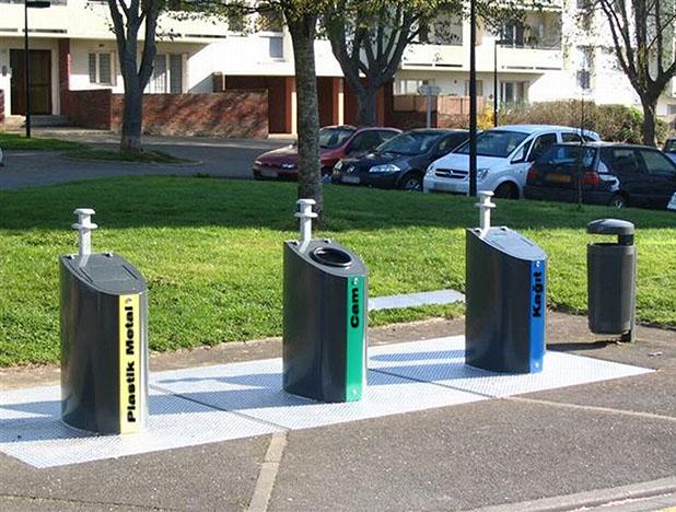 Hollanda'da Yeraltı Çöp Taşıma Sistemi
