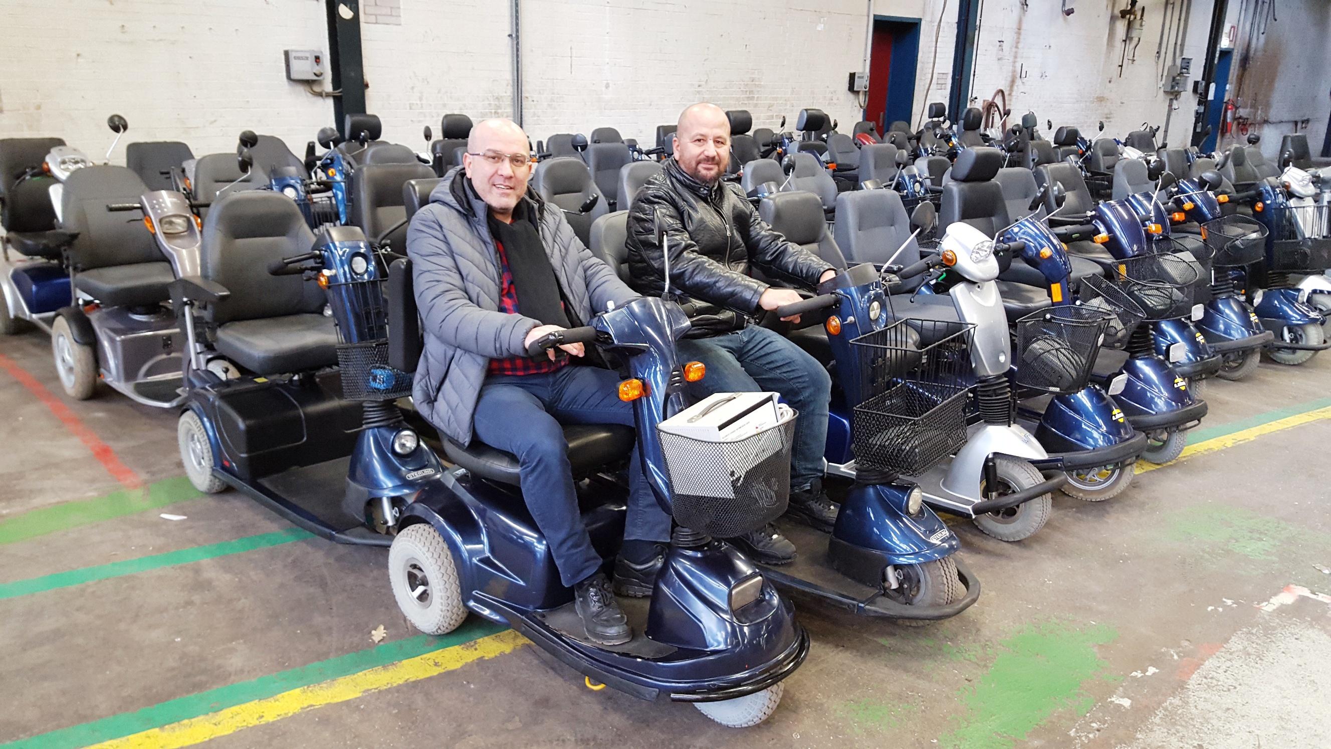 Hollanda'dan Türkiye'deki  Engellilere Elektrikli Sandalye