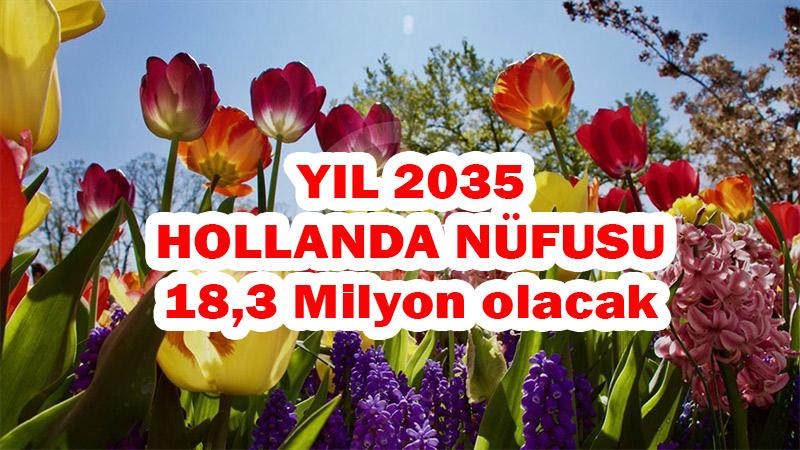 Hollanda nüfusu 2035 yılında 1 milyon kişi artarak 18 milyon 300 bin olacak