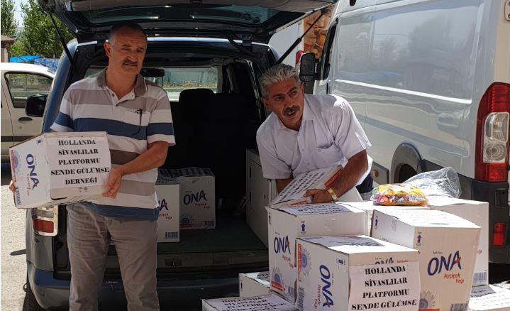 Hollanda Sivaslılar İhtiyaç Sahiplerine Gıda Paketi Dağıttı