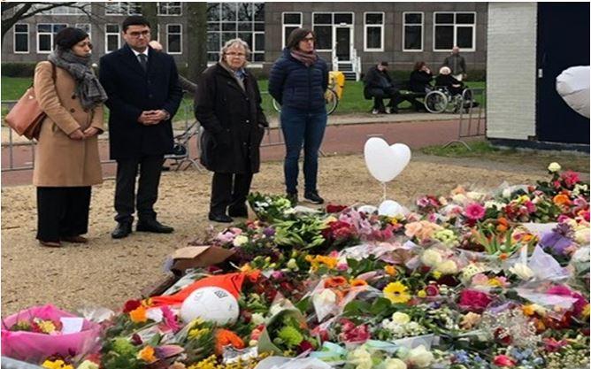 Hollanda'da Utrecht saldırısı kurbanları anıldı