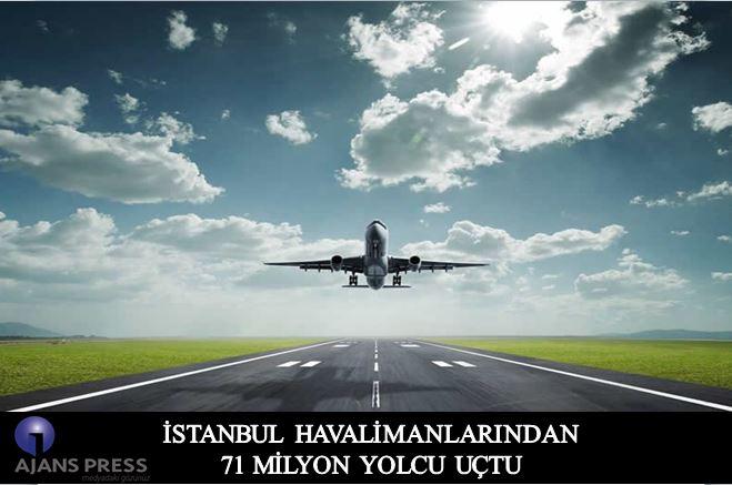 İstanbul havalimanlarında 9 ayda 71 milyon yolcu uçtu