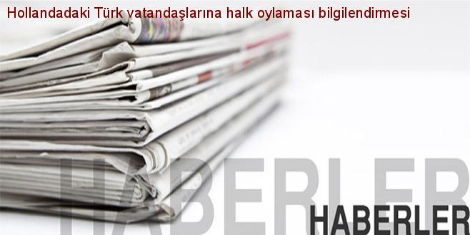 Kennisgeving aan de Nederlandse Turken over het Turkse referendum