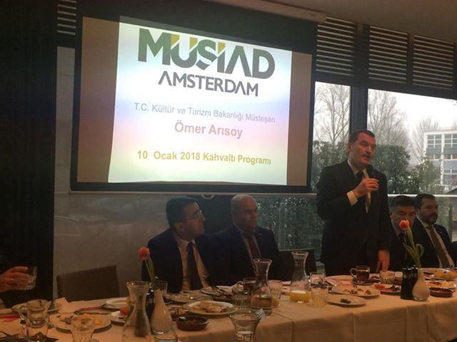 Kültür ve Turizm Bakanlığı Müsteşarı Ömer Arısoy Hollanda'da