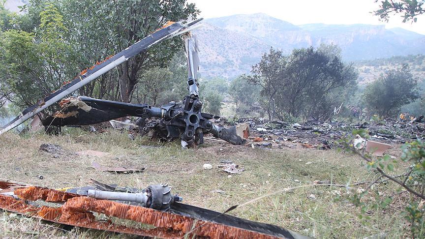Şırnak'taki helikopter kazasında 13 asker şehit oldu